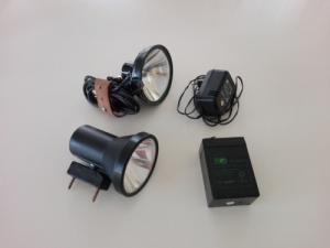 Batlamp + töltő