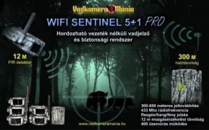 WIFI SENTINEL 5+1 PRO Hordozható vezeték nélküli vadjelző és mozgásérzékelő rendszer