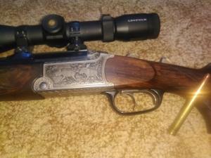 Blaser 9,3x74R és 12/70 es kaliberű vegyescsövű