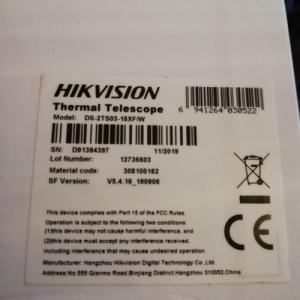 Hikvision hőkamera