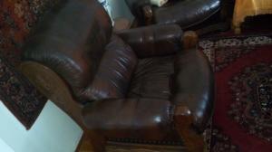 Faragott tölgy bőr fotelek
