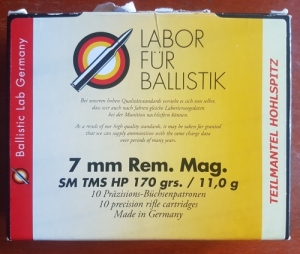 Labor Für Ballistik vadászlőszer