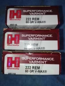 Hornady 222 v-max