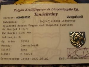 Cseh Brno M 502.4