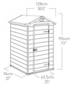 Keter Manor 4x3 kerti ház vadász beülő les WC -nek szerszám tároló