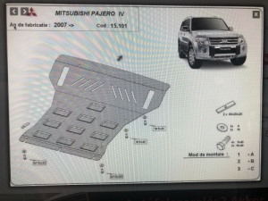Mitsubishi Pajero haspáncél