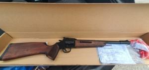 Új Keserű Onesta Gumilövedékes Gáz Riasztó forgótáras puska patronnal+ gumival