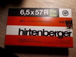 Hirtenberger 6,5x57R golyós lőszer