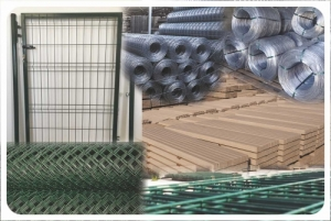 Vadháló drótháló drótfonat betonoszlop táblás kerítés építés szögesdrót kerítésdrót tüskéshuzal feszítőhuzal