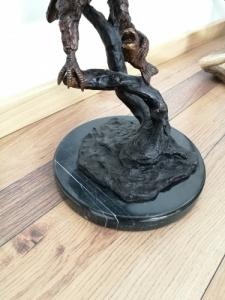 Nagyméretű bronz sas szobor