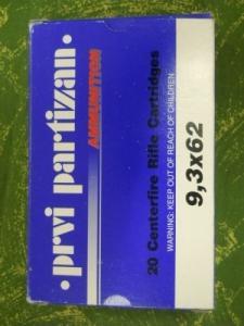 Keresek 9,3 x 62 Privi Partizan lőszert