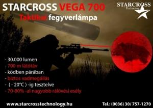 STARCROSS VEGA700 TAKTIKAI  LÉZER FEGYVERLÁMPA