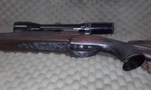 Golyós puska távcsővel