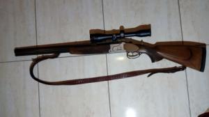 Krieghoff vegyescsövű + Zeiss távcső