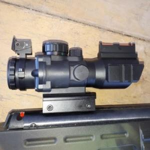 Taktikai - nyílt irányzékkal kombinált - red dot 4 x 32 - 11/22 mm