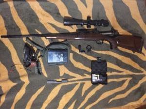 CZ550 puska, szerelék. cz 452 szerelék, fegyverlámpa, Red dot