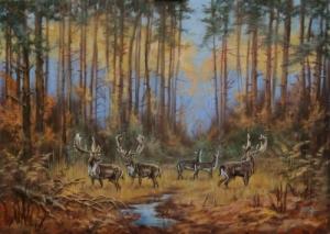 Jelzett vadász festmény