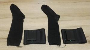 Fűthető zokni