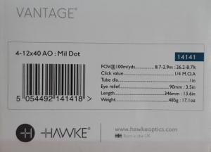 Hawke Vantage 4-12x40 AO: Mil Dot
