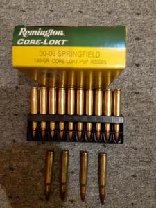 Remington Core-lokt 30-06-os Springfield 180 gr Core-lokt psp lőszer