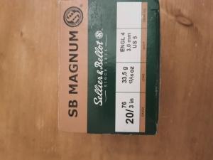 Sellier&Bellot 20/76, 33,5gr.(magnum) 3mm-es sörétes lőszer